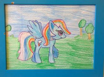 Rainbow dash by my daughter Anya by gritsenkobiz