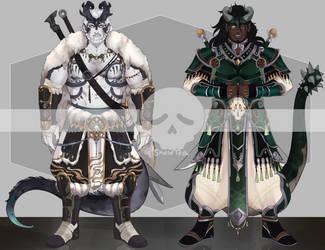 [Adopts] Dragon Swordsmen | USD/AUC | CLOSED by skele-tea