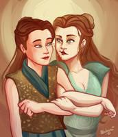 TTGOT-Mira and Margaery by Albaharu