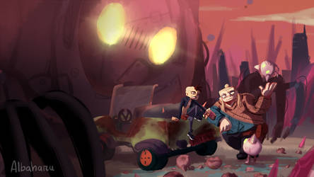 Robot Hunt- The Mercenaries by Albaharu