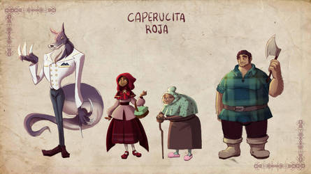 Character design- Little Red Riding Hood by Albaharu