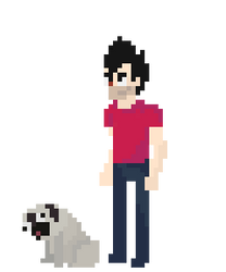 HBruna and Pongo - Pixelart by jeanpeters00