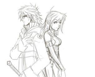 Adriem and Eliel sketch by javierbolado