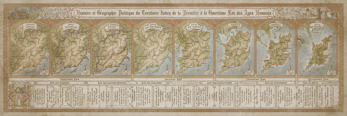 Map of Istia Through the Ages by MistyBeee