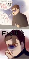 Fish Face [short comic] by Elyxen