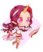 [c] Dear Diary Lyra - chibi pie by mirukidesu