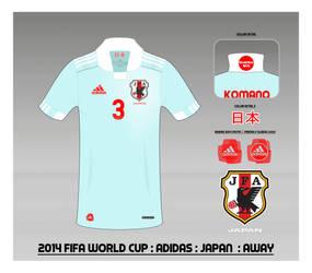 2014 Japan National Football Team Shirt : Away by Muums