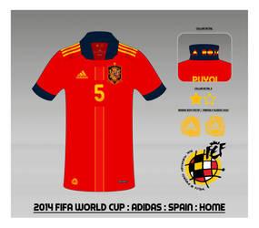 2014 Spain National Football Team Shirt : Home by Muums