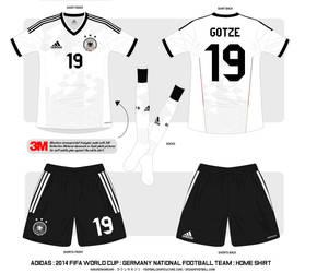 2014 Germany National Football Team Shirt : Home by Muums