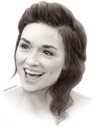 Crystal Reed as Allison Argent by maichan-art