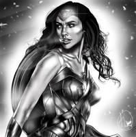 Wonder Woman (Gal Gadot) Digital Painting by JJFroud