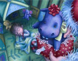 Hippopotamus for Christmas by Isynia-Artessa
