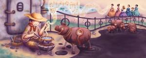 The Swineherd Spread 1 by Isynia-Artessa