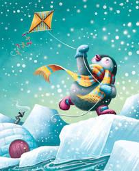 Pooka Penguin's Kite by Isynia-Artessa