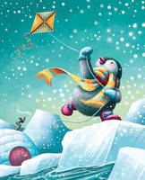 Pooka Penguin's Kite by Isynia-Artessa