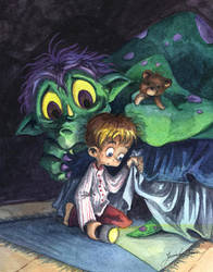 Monster Under The Bed by Isynia-Artessa