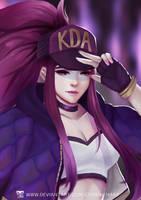 League of Legends: Akali K/DA by CeridwenArt