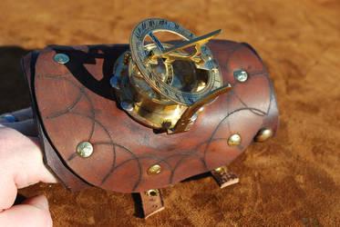 Manual Steampunk Sundial Watch by Bluebenu