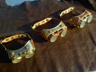 Lab Assistant Steampunk Goggles by Bluebenu