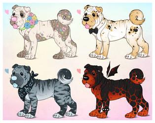 Shar-Pei Adopts! 2 of 4 OPEN! by PixieCatShop