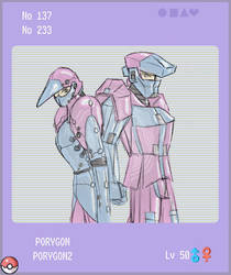 Porygon and 2 by Felche