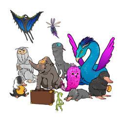 Fantastic Beasts by meganrenae-art
