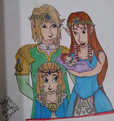 Zelink family (Twilight Princess) by ImSakuraHaruno