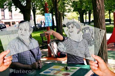 Yo y mi Padre en Foto Dibujo by NataliaPlatero