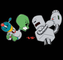 Aliens vs Robots by Chadwick-J-Coleman