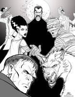 Inktober-#24-Classic Horror by Chadwick-J-Coleman