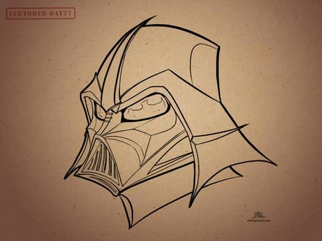 Inktober-#27-Samurai Vader by Chadwick-J-Coleman