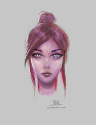 Female painting practice +150,000 page views by Chadwick-J-Coleman