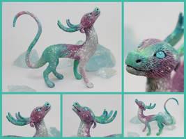 Aurora Borealis Winter Dragon by Neronai