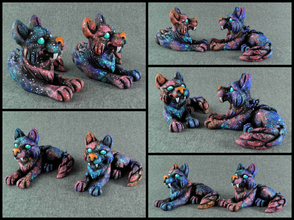 Colorful Galaxy Wolves by Neronai