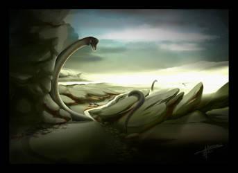Dino Landscape by daroe