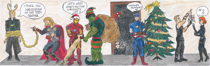 Avenging Christmas by InLoveWithUtopia