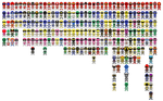 All Super Sentai a.k.a. Power Rangers Pixel Art by Miralupa