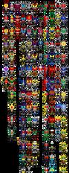 All Kamen Riders Pixel Art (WIP) by Miralupa