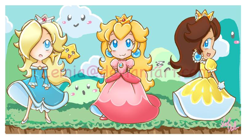 Super Mario Girls by LemiaCrescent