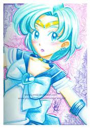 Crayola Crayon Sailor Mercury by LemiaCrescent
