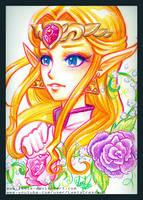 Crayola Crayon Ocarina of Time Princess Zelda by LemiaCrescent
