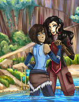 The Legend of Korra and Asami by LemiaCrescent