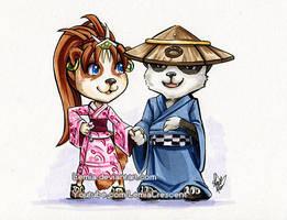 WoW Pandaren for QueenKrissu by LemiaCrescent