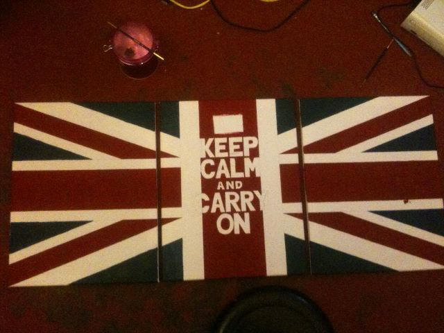 Keep Calm - Union Jack (work in progress) by PeteDomoney