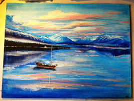 Oil Landscape by Saliov