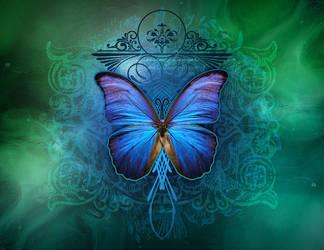 Butterfly Blue by kuschelirmel