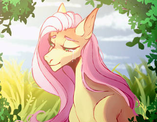 Sketch-art: Fluttershy by VelirenRey