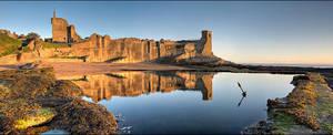 Castle Sunrise Panorama by Meowgli