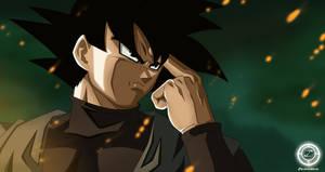 Black Goku Fanart by zika-arts
