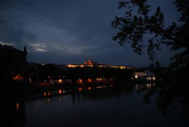 Prazsky Hrad at night II by Squirry